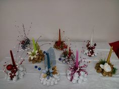 Christmas Crafts, Thanksgiving, Table Decorations, Red, Handmade, Home Decor, Xmas, Bricolage, Projects