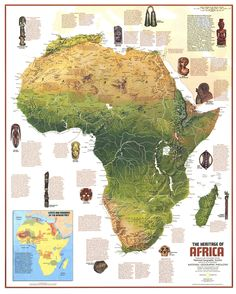 12 Awesome physical map of africa with landforms images Zulu, National Geographic Maps, Africa Map, International Day, Geography, Awesome, Amazing, Physics, Egypt