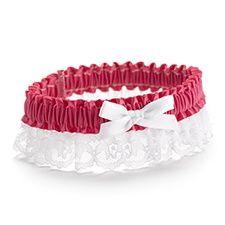 Ribbon and Lace Garter - Fuchsia $7.40