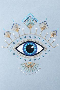 Latest Trend in Paper Embroidery - Craft & Patterns Paper Embroidery, Embroidery Patterns, Paper Patterns, Craft Patterns, Hamsa, Eye Journal, Evil Eye Art, Eye Illustration, Eye Painting