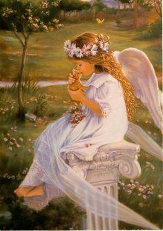 "angel; ""Kissing Kitty"" by Sandra Kuck"