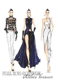 Atelier Versace Couture Sketch - Поиск в Google