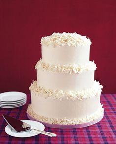 "White Wedding Cake with Shaved White Chocolate. ""Homemade"" Wedding Cakes   Wedding Cakes Photos   Brides.com"