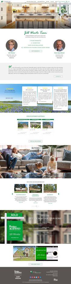 Custom Real Estate Website Design Real Estate Website Design, Spring Texas, Estate Homes, Custom Design