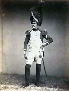 Veterano dei granatieri a piedi della guardia imperiale francese (foto del 1858)