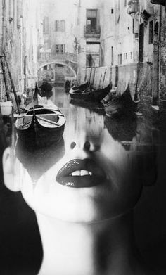 GONDOLA, ANTONIO MORA ~ a Spanish artist who combines with talent portraits photographed in various landscapes.