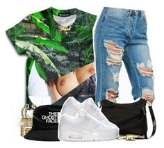 """""""12-18-14 Dont Copy My Set"""" by no-flex-zone ❤ liked on Polyvore featuring Auriya, Forever 21, Gucci, CC SKYE, NIKE, nike, gucci and buckethat"""