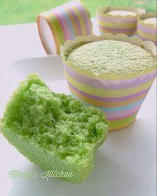 Pandan Sponge Cupcakes Pandan Cupcakes Recipe, Sponge Cupcake Recipe, Pandan Cake, Sponge Cake Recipes, Cupcake Flavors, Cupcake Recipes, Cookie Recipes, Dessert Recipes, Baking Muffins