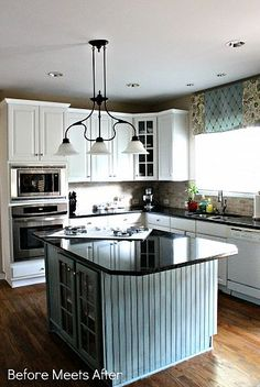DIY:: Fifty Dollar Kitchen Island Redo!  Thats about the size of my kitchen, I need to check into this~