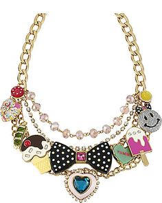 CANDY MULTI CHARM NECKLACE MULTI accessories jewelry necklaces fashion