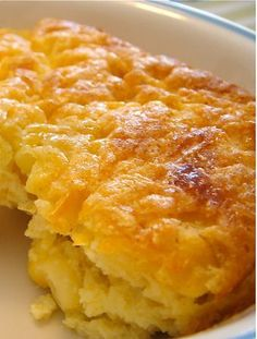 Corn Pudding - a Southern recipe, steeped in tradition, from when corn was plentiful and money was not).