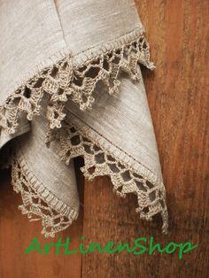 Dish towels Kitchen towels Hand towels Linen towels set Rustic wedding towels Rustic towels – Cute and Trend Towel Models Crochet Edging Patterns, Crochet Lace Edging, Crochet Borders, Crochet Doilies, Crochet Stitches, Free Crochet, Knitting Patterns, Knit Crochet, Knitting Tutorials