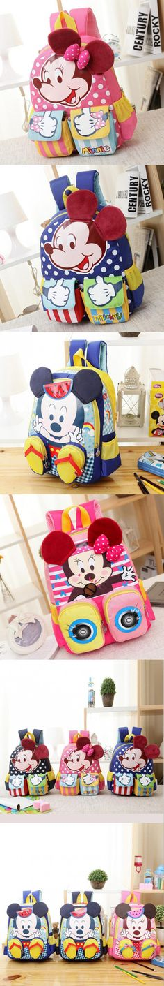 Minnie Mouse Backpack for Boys Girls Schoolbag for Teenagers Cartoon Print Children School Bag for Students Child Kids Mochila $11.6