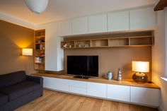 Discover recipes, home ideas, style inspiration and other ideas to try. Living Room Tv Unit Designs, Bedroom Cupboard Designs, Ikea Living Room, Living Room Shelves, Tv Unit Decor, Modern Home Interior Design, Home And Living, Modern Living, Home Decor