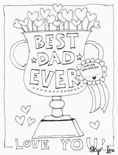 Free printable Dad coloring page for Father's Day. This cute coloring sheet makes the perfect Father's Day Card. Every Dad will love this award.