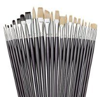 Artist Paint Brush Set with Free Storage Holder By Keyp Creative • 24 Piece Premium Artists Paint Brushes for Acrylic, Oil & Watercolor Painting • Professional Quality Long Handled Art Paintbrushes • Enhance Your Artistic Talents Now!