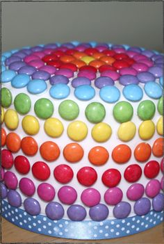 Smartie Cake - not the one I saw earlier, but still cute and effective.
