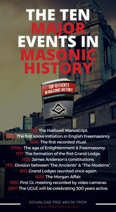 """The """"Top 10 Events In Masonic History"""" FREE eBook - A must read !"""