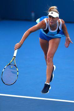 Caroline Wozniacki Photos: Sydney International: Day 2
