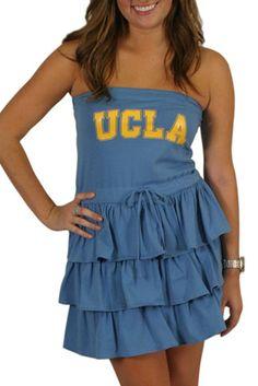 UCLA - Strapless Ruffle Dress (D7000-UCLA)