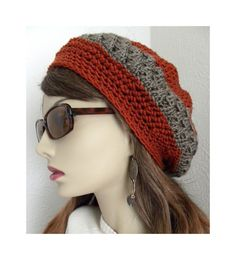 Bohemian Chic Hand Crocheted Slouchy Hat for by FreeSpiritHats, $28.00