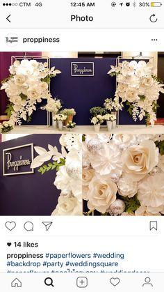 Wedding Backdrop Design, Floral Backdrop, Paper Flower Backdrop, Ceremony Backdrop, Paper Flowers, Wedding Decorations, Wedding Wall, Wedding Stage, Wedding Colors