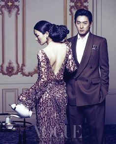 """Joo Jin-mo and Kim So-yeon for Vogue Korea. They recently starred in the movie """"Gabi."""""""