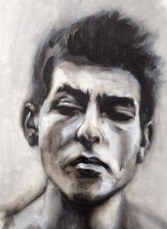 dusting off the oils - from an old picture - Dylan #sketch #portrait #study #oil on canvas paper #art #followart