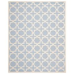 Cambridge Light Blue & Ivory Tufted Wool Rug. #laylagrayce #rug #new