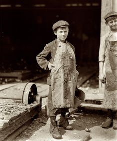 CHILD LABOR: Four Pots a Day: February Bluffton, S. Oyster shuckers at Lowden Canning. Ten-year old Frank. Shucks four pots a day. Photo by Lewis Wickes Hine.