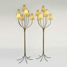 persane, branch floor lamps, ca 1950 Jean Royère
