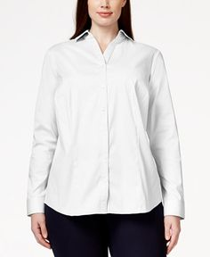29.99$  Watch here - http://vivcy.justgood.pw/vig/item.php?t=8t9j91i15485 - Plus Size Shirt, Only at Macy's 29.99$