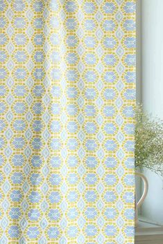 Sky and sunshiny Incana Fabric. Perfect for welcoming the warmth of golden morning sun…Bring in the cool breeze and let our curtain designs sway effortlessly into your home! Cotton Curtains, Sheer Curtains, Panel Curtains, Cotton Fabric, Latest Curtain Designs, Extra Long Curtains, Cushions For Sale, Retro Sofa, Curtains For Sale