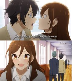 Manga Couple, Horimiya, This Is Love, Aesthetic Anime, Otaku, Marvel, Kawaii, Fan Art, Cartoon
