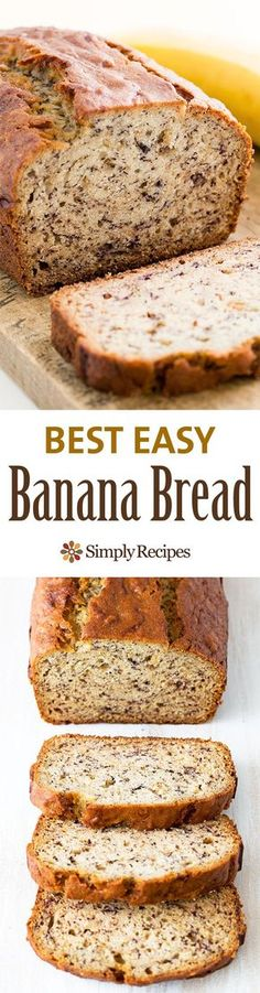 Bread Easiest banana bread ever! No need for a mixer! Delicious and easy, classic banana bread recipe. Most popular recipe on Easiest banana bread ever! No need for a mixer! Delicious and easy, classic banana bread recipe. Most popular recipe on Easy Banana Bread, Banana Bread Recipes, Easiest Banana Bread Recipe, Banana Bread With 2 Bananas, Banana Bread No Eggs, Super Moist Banana Bread, Banana Bread Recipe With Baking Powder, Banana Bread With Cinnamon, Banana Bread Recipe No Baking Soda