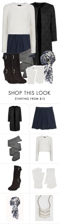"""""""Allison Inspired Winter Outfit with a Cropped White Sweater"""" by veterization ❤ liked on Polyvore featuring Madewell, Trasparenze, MANGO, Harrods, Forever 21 and Mata Traders"""