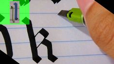 All of the letters of the alphabet in GOTHIC style. Pilot Parallel Pen with black ink. Notebook: size from brand Oxford, one line. Calligraphy Templates, Fake Calligraphy, Calligraphy Video, Calligraphy Tutorial, Calligraphy Handwriting, Calligraphy Alphabet, Lettering Tutorial, Creative Lettering, Cool Lettering