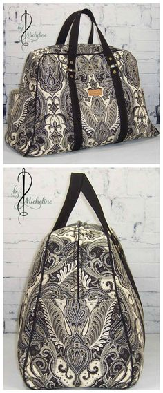 Vivian bag sewing pattern. Available in two sizes, purse and traveller. Classy style. Photos by Micheline Trottier