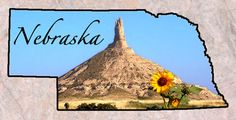 """Nebraska  Entered the Union: March 1, 1867 (37)Capital: Lincoln Origin of Name: From an Oto Indian word meaning """"flat water"""" State Nickname: Cornhusker State • Beef State State Bird: Western MeadowlarkState Tree: Cottonwood State Mammal: White-tailed DeerState Flower: Goldenrod State Song:""""Beautiful Nebraska""""State Parks: 87 State Motto: Equality before the law Famous For: Chimney Rock • Agate Fossil Beds"""