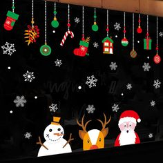 Photo Gallery - NEW Christmas Window Glazing Paster Old Man Snowman Elk Decorative Wall Sticker Christmas Board Decoration, Christmas Bulletin Boards, Christmas Classroom Door, Office Christmas, Christmas Decorations For Classroom, Christmas Tree, Christmas Window Stickers, Wall Decor Stickers, Wall Sticker