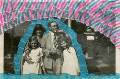 The pull mentioned in the title of this artwork refers to the father portrayed into this vintage family picture. The shot immortalised the exact moment while he was pulling the cigarette, creating in my mind a brand new (and surreal) narration. Overview • This is an original contemporary art collage realized on a vintage photography. • I realized this collage using a photo bought on an vintage online shop. • I altered it using washi tape. • All the artworks are signed, titled, and dated on…