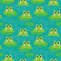 frogs print and pattern