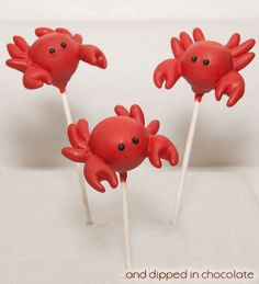 @Sarah Chintomby Goetz, Crab cake pop wedding favors? They're red...?! http://www.facebook.com/anddippedinchocolate