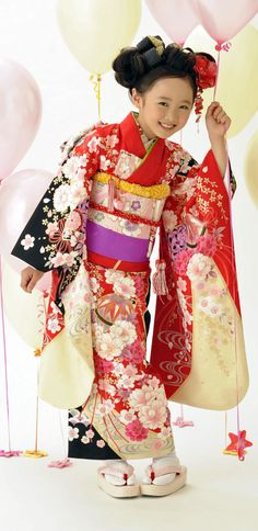 Girl Dressed in Kimono, Shichi-Go-San Festival (Festival for Three, Five, Seven Year Old Children)