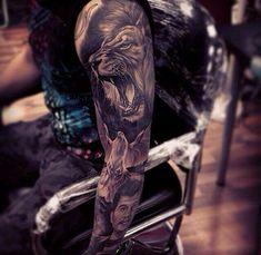 Black & Gray Sleeve Tattoo by Fred Florez