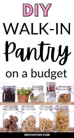 DIY walk-in pantry on a budget. How I turned my den into a beautiful walk-in pantry. Living in a small apartment means we need to maxmize our space. Walk-in pantry layout ideas. Walk-in pantry organization ideas. Check out how we created a spacious walk-in pantry in our small space.
