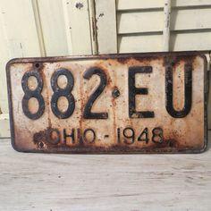 1948 Ohio License Plate by oZdOinGItagaiN on Etsy, $15.00