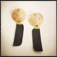 NOT your usual capiz earrings Denim, Earrings, Jewelry, Ear Rings, Stud Earrings, Jewels, Schmuck, Jewerly, Jewelery