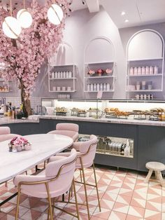 36 Colorful Furniture Ideas to Makeover your Interior - World Of Decor Coffee Shop Design, Cafe Design, Store Design, House Design, Restaurant Interior Design, Modern Interior Design, Interior And Exterior, Pastel Interior, Bakery Interior Design