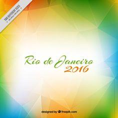 fundo poligonal Moderna do Rio 2016 Vetor grátis